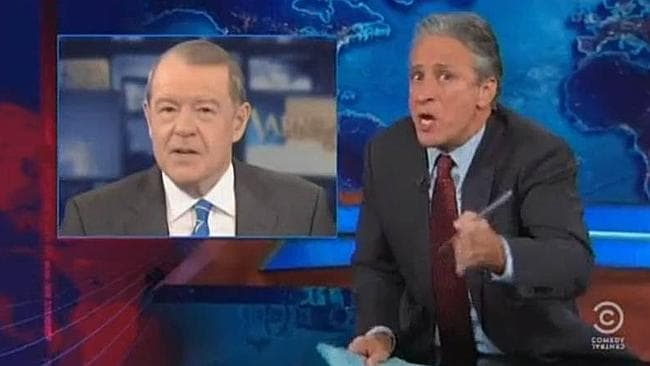 Jon Stewart got angry and dropped the F-bomb on The Daily Show. Picture: Supplied