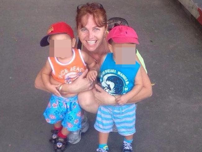 Tammy Davis-Charles with the two youngest of her six children is locked up in notorious Prey Sar Prison.