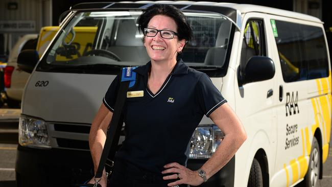 Safety first ... Pam Kenny who works as a security technician with RAA. Picture: Tom Huntley