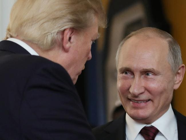 """Putin said claims of Russian involvement in the US election were """"invented by people who oppose President Trump to undermine his legitimacy."""""""