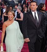 <p>Actress Jennifer Lopez and actor Ben Affleck arrive for the 75th annual Academy Awards Mar 23, 2003.</p>
