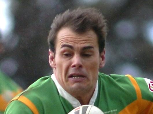 Captain Michael Sullivan on run during Orange CYMS v Mudgee in 2010 Group 10 first grade grand final at Wade Park in Orange.