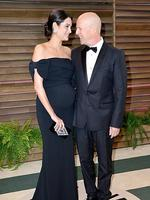 Actor Bruce Willis and model Emma Heming attends the 2014 Vanity Fair Oscar Party. Picture: Getty