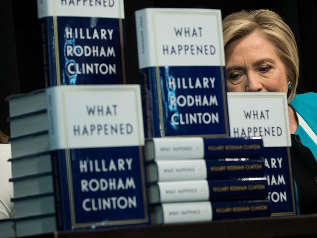 Former US Secretary of State Hillary Clinton is promoting her new book What Happened, about her 2016 election loss to President Donald Trump. Picture: Drew Angerer