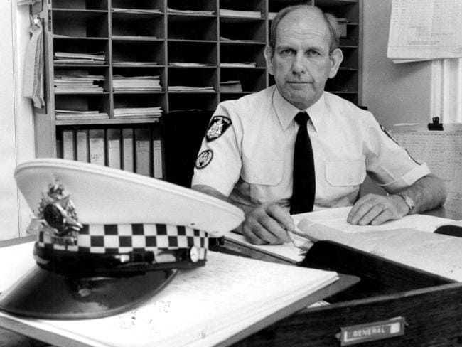While coaching the Hawks, Allan Jeans also worked as a police officer.