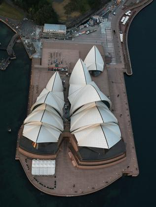 Aerial photos of the Sydney Opera House. Picture: Toby Zerna