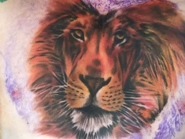 Ed Sheeran received criticism from fans about this lion tattoo. Picture: Instagram
