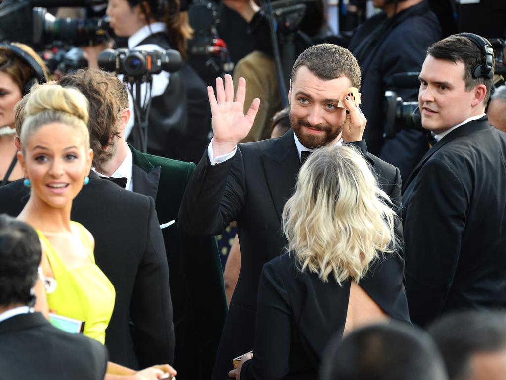 Sam Smith attends the 88th Annual Academy Awards on February 28, 2016 in Hollywood, California. Picture: AP