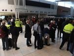 The power cuts have hit Adelaide Airport, leaving travellers stranded. Pic: Tricia Watkinson