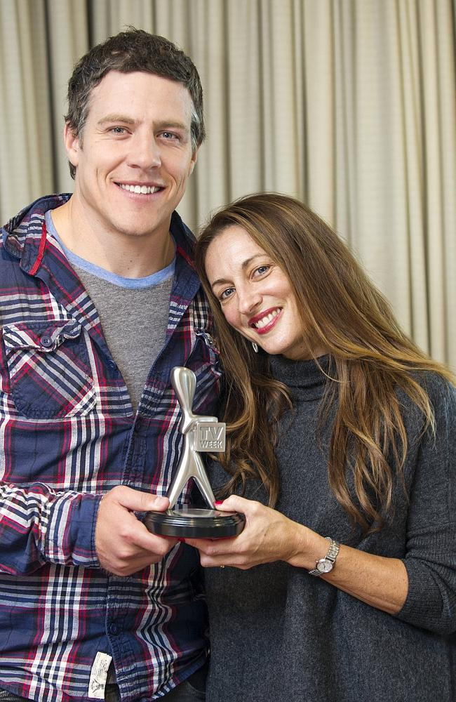 Home and Away cast members (l to r) Steve Peacocke and Georgie Parker. Picture: Eugene Hyland