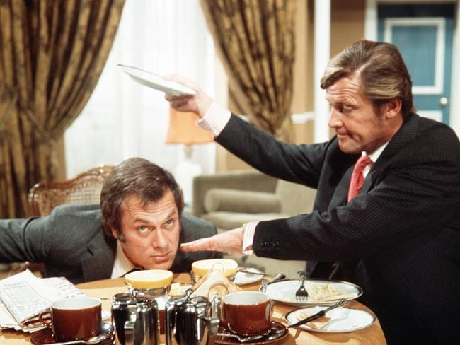 Tony Curtis as Danny Wilde and Roger Moore in  <i>The Persuaders</i>. Picture: Supplied