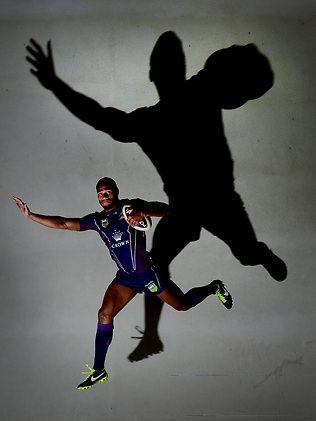 Melbourne Storm winger Sisa Waqa. Picture: Colleen Petch