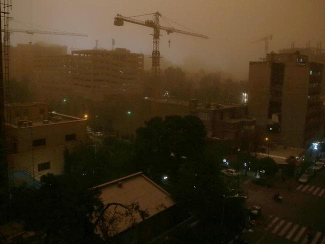 Tehran was completely engulfed by the storm,