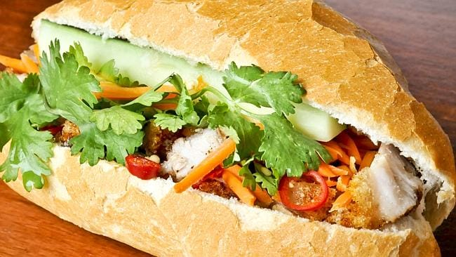 Reggie is a big fan of Andy Vinh's fresh, traditional banh mi roll.