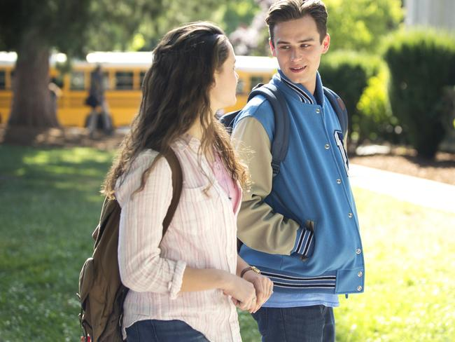 Katherine Langford with Brandon Flynn in the new Netflix series '13 Reasons Why' based on the popular series of books.