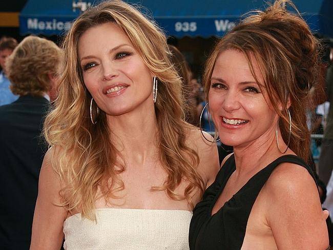In the 80s Clooney dated actress Dedee Pfeiffer (right) sister to the very famous Michelle Pfeiffer. Picture: Getty