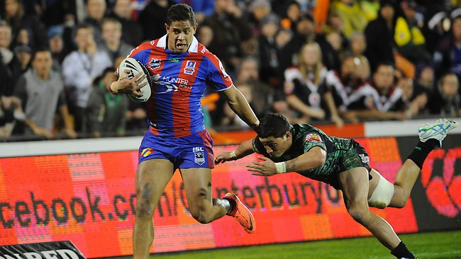 Dane Gagai in action for the Knights in the round 21 match against the Warriors. Picture: Cornaga-photosport.co.nz