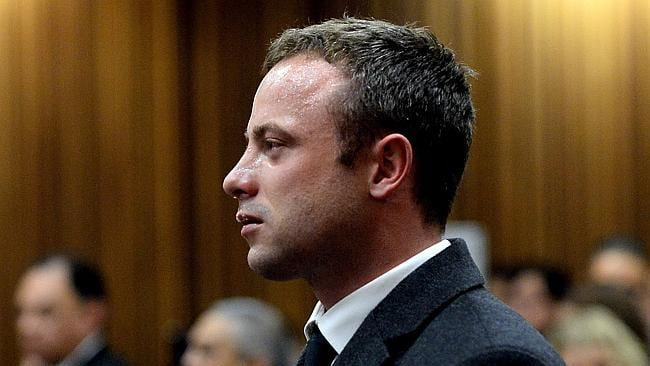 In tears ... a distraught Oscar Pistorius weeps during his murder trial.
