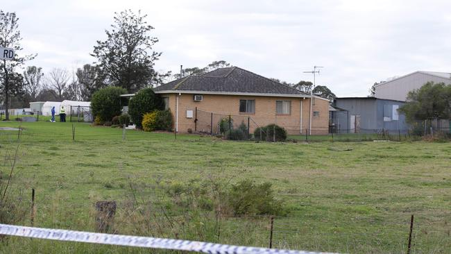 A man has been killed in a home invasion in the semi rural suburb of Badgerys Creek. Picture: Cameron Richardson.