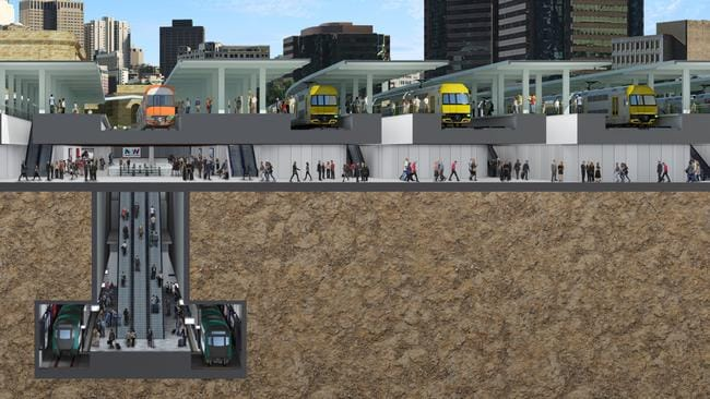 A 3D cut through impression of Central Railway Station's Central Walk upgrade announced today by NSW Premier Gladys Berejiklian