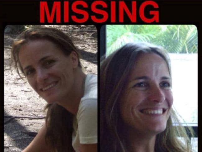 Sandrine Jourdan in one of the many missing persons posters circulated on Facebook by her family and friends