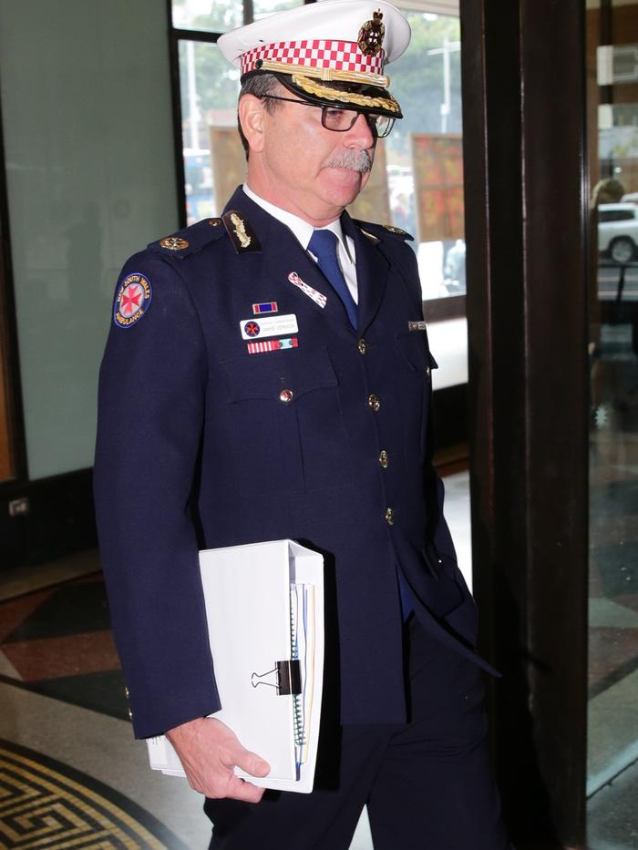 James Vernon, director of NSW Ambulance's control division. He expressed his condolences to the Hughes family. Picture: Ross Schultz
