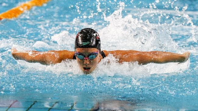 Emma McKeon won the 100m butterfly. Picture: AAP
