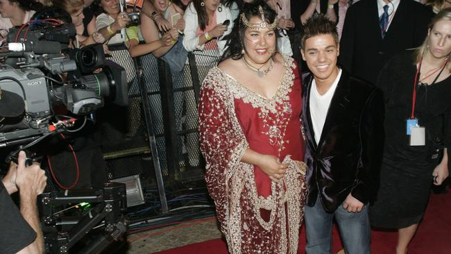 Finalists Casey Donovan and Anthony Callea arrive on the red carpet at the final of the 2004  <i>Australian Idol </i>competition.