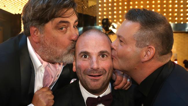 The MasterChef judges on the Logies red carpet. Picture: Hamish Blair