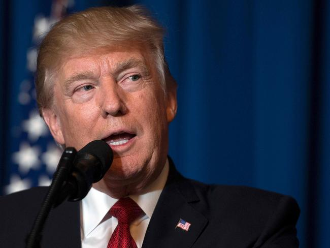 US President Donald Trump ordered a massive military strike against Syria in retaliation for a chemical weapons attack they blame on President Bashar al-Assad. Picture: Jim Watson/AFP