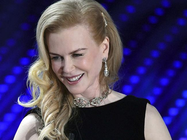 Nicole Kidman will be supporting the Face It Together campaign. Picture: Ettore Ferrari/ANSA via AP