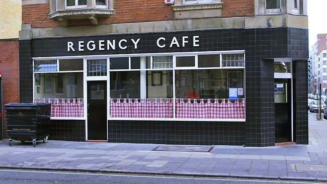 The retro Regency Cafe is the iconic spot to get a full English breakfast. Flickr.