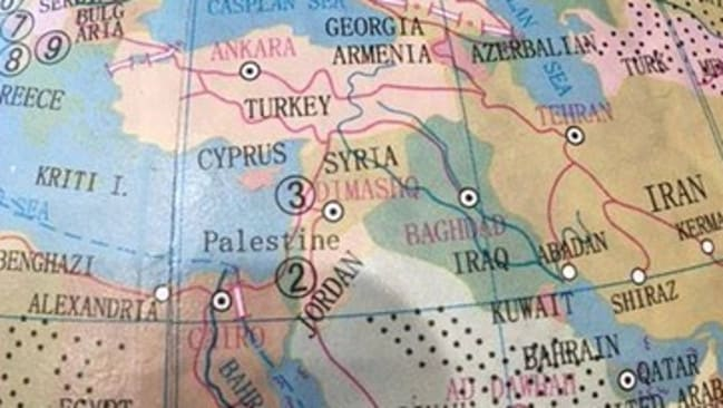 World globe featuring palestine but not israel pulled by typo stores a world globe sold in cotton ons typo stores wiped israel off the map gumiabroncs Images