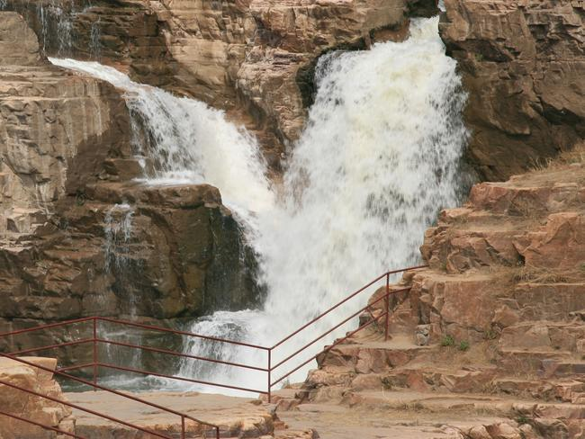 This is the same waterfall area in warmer temperatures. Picture: Alamy