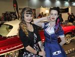 Australian Tattoo and Body Art Convention at the PCEC. Tanya Balakina (19, from Ukraine) and Joslyn Paull (18, Perth)