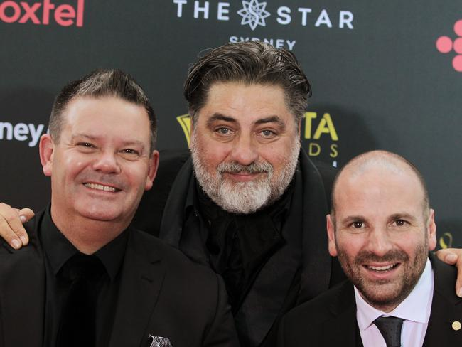 MasterChef Australia judges Gary Mehigan, Matt Preston and George Calombaris. Their show took out the Best Reality Series AACTA. Picture: AAP Image/Ben Rushton