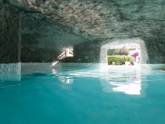 Inside Pool Cave grand hotel santa domitilla grotto spa in rome is spectacular