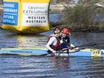 2014 Avon Descent finish. First and Third place in the Single Kayak; Lance Kime and Matthew Dean. Picture: Jordan Shields