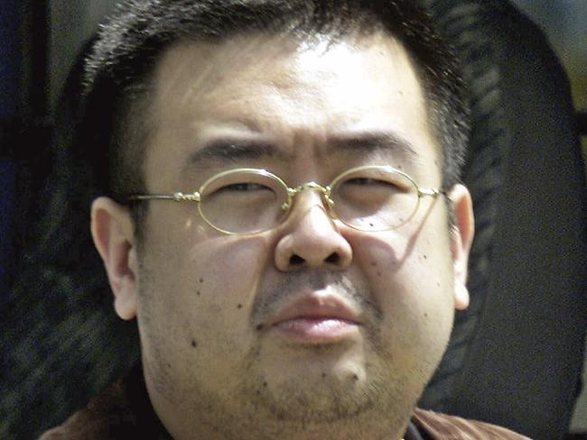 A 2001 photo shows Kim Jong-nam in Narita, Japan after he tried to enter the country on a fake passport. Picture: Shizuo Kambayashi/AP