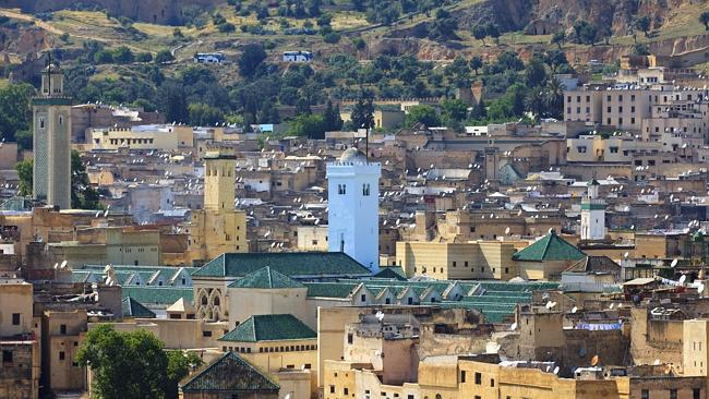 Lovers can enjoy the views over the Moroccan city of Fez.