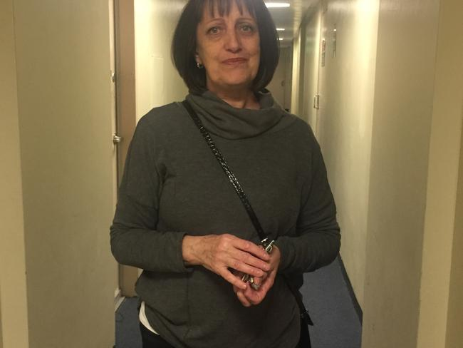 Marie Delmar, 59, has hoarders, ice dealers and alcoholics for neighbours at Kendall Towers.