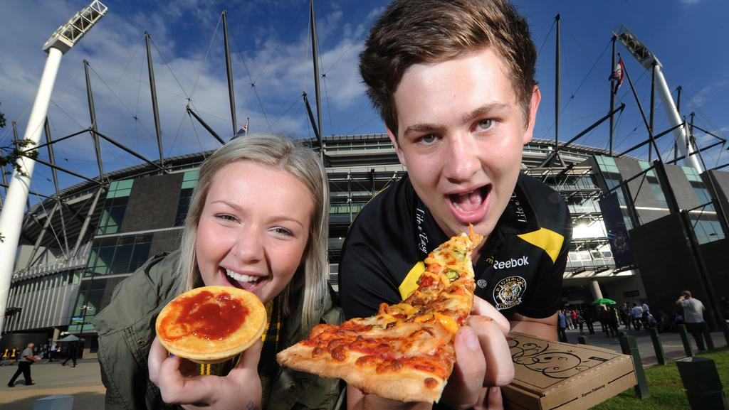 Pizzas have joined pies as the fare of choice for football fans at the MCG, where Spotless holds the catering contract.