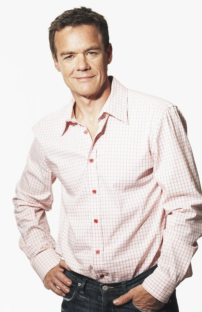 Pushed and left fighting for his life ... Stefan Dennis played Paul Robertson in drama se