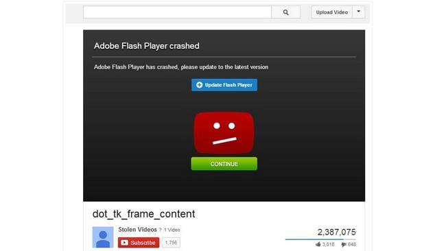 Scammers have made this fake YouTube site look real enough to fool.