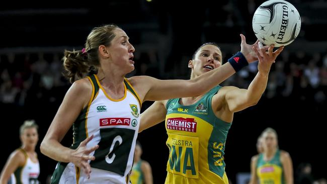 New Queensland Firebird Erin Burger has played for South Africa against Australia. Pictures: Getty Images