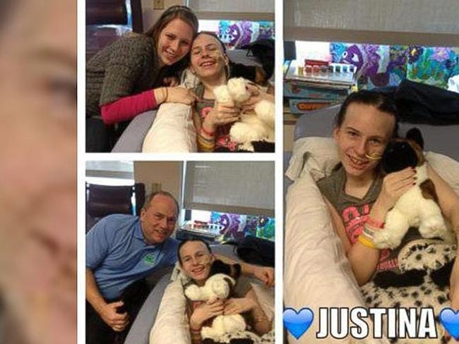 Images taken from the Free Justina Facebook page set up by her family