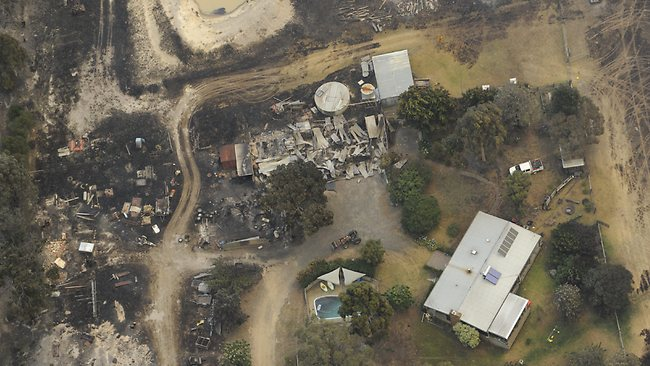 Outbuildings destroyed at a farm near Seaton. Picture: Lawrence Pinder