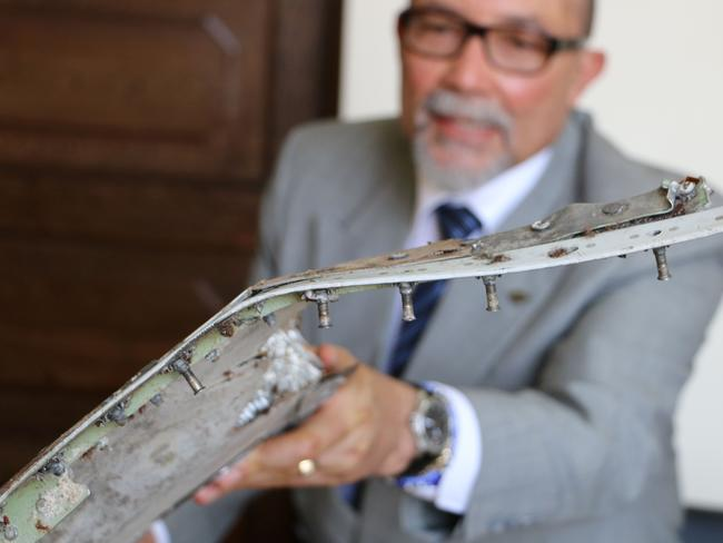 Mr de Abreu said the debris could be a aileron, a flap or an elevator part of the plane. Picture: Adrien Barbier/AFP