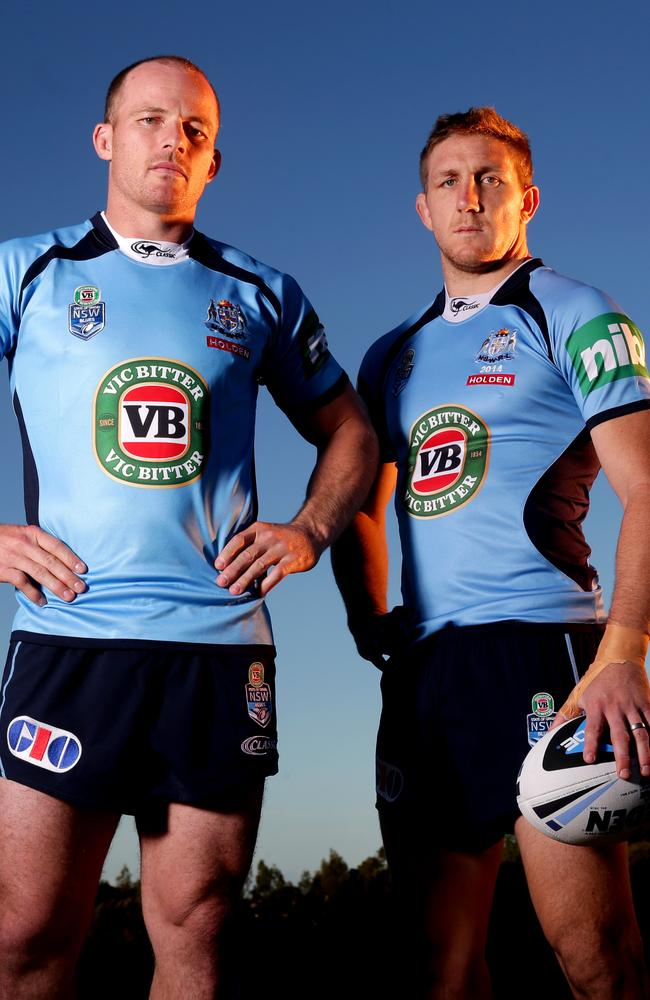 Unsung heroes of the NSW Blues Origin team Beau Scott and Ryan Hoffman. Picture Gregg Porteous