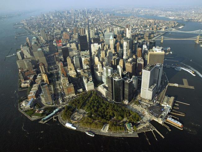 An aerial view New York.